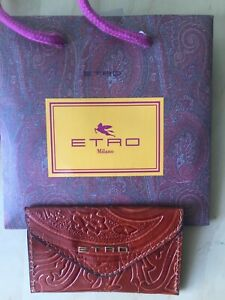 New Dror for Tumi black Etro brown leather business card holder case unisex