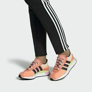 Adidas SL Andridge Women's Sz 7.5 Fashion shoes Chalk Coral/Indigo/Yellow EF5549
