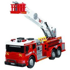 Kids Big Fire Truck Toy Fire Brigade Vehicle With Lights Sounds Real Water Pump