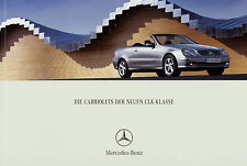 Prospekt Mercedes CLK Cabriolet 1/03 2003 Cabrio Autoprospekt 55 AMG 500 320 240