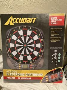 New Accudart EX3000 Electronic Dartboard 30 Games Up To 8 Player