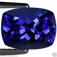 2.26 Ct IGI Certified AA+ Natural D Block Tanzanite Blue Violet Cushion Cut