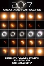 2017 Great American Solar Eclipse Poster 12 x 18 - Fulton, MO - Serenity Valley