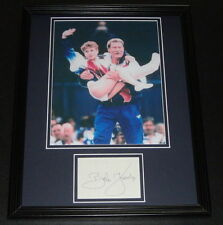 Bela Karolyi Signed Framed 11x14 Photo Display 1996 Olympics w/ Kerri Strug