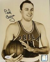 Paul Arizin Warriors Jsa Signed 8x10 Photo Autograph Authentic