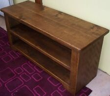 SOLID WOOD TV STAND CABINET ENTERTAINMENT DVD UNIT RUSTIC PLANK PINE FURNITURE