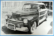 "1946 Ford Smith's Sportsman Convertible Top Up 12 x 18"" Black & White Picture"