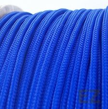 3mm x 5m Blue Expandable Braided PET Cable Sleeving High Density PC RC Modding