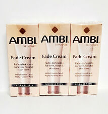 AMBI Fade Cream for Normal Skin Fades Dark Spots For Even Natural Skin 2oz (3PK)