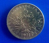 #2075# Vème République, 5 Francs Semeuse, 1971