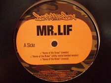 "MR. LIF - HOME OF THE BRAVE / THE UNORTHODOX (12"")  2002!!!  RARE!!!  FAKTS ONE"