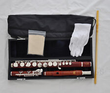 Professsional Rose Wood Wooden G key Alto Flute with case