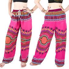 Harem Trousers - Aladdin Smock Pants Boho Jumpsuit African Dashiki Pink al083p