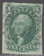 USA Scott #15 10ct Used VF-XF GEM CV $160