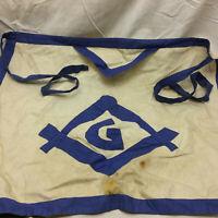 Vintage Masonic Apron Mason Logo Handmade