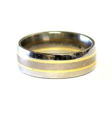 platinum & 18k yellow gold wedding band ring 8.3g estate 6.4mm vintage antique