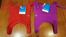 NWT Columbia Fleece OS Infant Jester Winter Hat Chin Strap Choose Purple OR Red