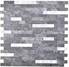 Vinylmosaik Stäbchen schwarz silber selbstklebend Wand Fliesenspiegel WB200-22BS