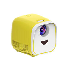 Yellow Home Mini LED Smartphone Projector Connect Android Video Game Movie