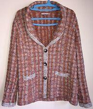 Pendleton Cardigan Sweater Women's Large Multi-Color Cotton Silk Blend GUC