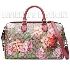 Gucci Women's GG Supreme Monogram Blooms Large Top Handle Boston Bag Rose 409527