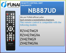 NEW MAGNAVOX REMOTE NB887UD ZV427MG9A ZV427MG9B ZV427MG9 MDR161V/F7