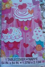 Alice In Wonderland Theme Birthday; Cupcake Tablecloth; Birthday Party Decor