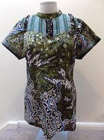 "Batik Semar Women Top Green Ethnic Hippy Boho Size 3L Medium - Large 40"" chest"
