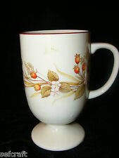 Autumn Leaf Berry Pedestal Coffee Cup Mug Japan