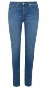 LEVIS 721 High Rise Skinny Jeans Ladies Blue Size 28W 30L  *REFAB361