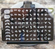 Gran Arte en Uñas Imagen Estampar Planchas para Estampar Manicura Plantilla Polaco imagen (D9)