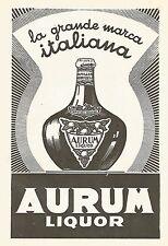 W9263 AURUM Liquor - La grande marca italiana - Pubblicità del 1940 - Vintage ad