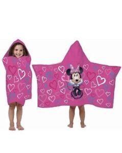 "Disney Minnie Mouse Hooded Towel Wrap Classic Fuschia Pink, 22.5"" x 51"""
