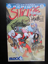 SUICIDE SQUAD #1 DC REBIRTH - COMIC BLOCK VARIANT -  SIGNED BY YANNICK PAQUETTE!