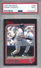 1997 Bowman baseball card #290 Frank Thomas, Chicago White Sox graded PSA 9