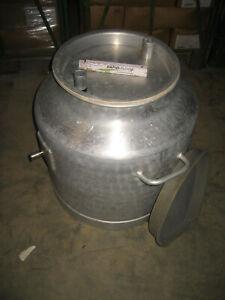 140 Liter Milchtank mobil für Melkmaschine Milchauffangbehälter Aluminium Tank