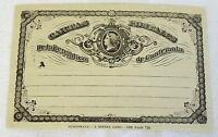 1883 magazine engraving ~ GUATEMALA POSTAL CARD