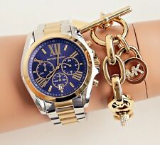 Original Michael Kors Uhr Damenuhr MK5976 BRADSHAW BiColor Farbe:Silber/Gold NEU