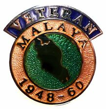 Malaya Veterans Lapel Pin Badge