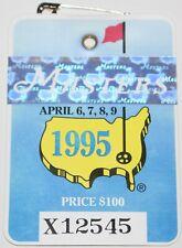 1995 MASTERS AUGUSTA NATIONAL GOLF CLUB BADGE TICKET BEN CRENSHAW WINS