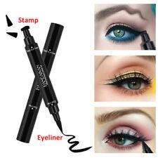 2 in1 Eyeline Pencil Waterproof Stamp Double-ended Liquid Eye Liner Pen Cosmetic