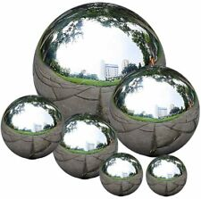 zosenda Stainless Steel Gazing Ball, 6 Pcs 50-150 mm Mirror Polished Hollow B.