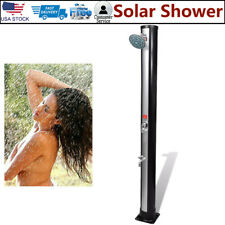 Outdoor Solar Shower Swimming Pool Spa w/ Shower Head & Faucet 140°F 9.25 Gallon