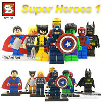 8 PCS SET MIN FIGURES FITS LEGO IRONMAN BATMAN MARVEL DC UNIVERSE HULK 2017 UK