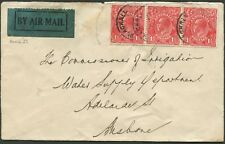 Aerophilately: Mar.1923 issued (Frommer.9d) Qantas BY AIR MAIL vignette with PC