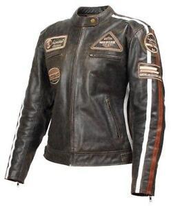 Ladies / Women Biker Motorbike Motorcycle CE Protector Leather Jacket Brown