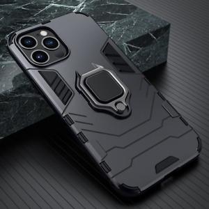 CASE For iPhone 12 11 XR XS 7 8Plus Magnetic Metal Finger Ring Holder Shockproof