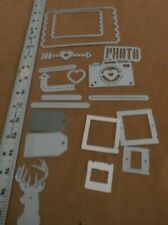 Dies sizzix Thinlits Photo Love Lot with other misc Thin die's deer, frames, tag