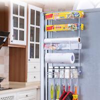 Over Door Freezer Storage Rack Kitchen Pantry Spice Organizers Shelf Space Saver