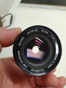 Olympus OM Zuiko 21mm F2 lens in excellent condition